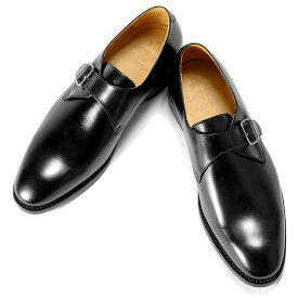 バーウィック Berwick1707 / ボックスカーフシングルモンクストラップシューズ「4319」(NEGRO/ ブラック ) 靴 黒 メンズ ブランド | モンクストラップ ビジネスシューズ 本革 ビジネス 革靴 レザーソール