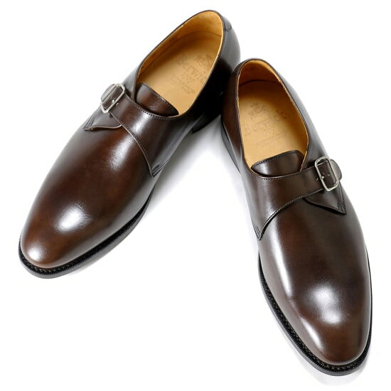 バーウィック Berwick1707 / アニリンカーフシングルモンクストラップシューズ『4319』靴 メンズ ブランド   モンクストラップ ビジネスシューズ 本革 ビジネス 革靴 レザーシューズ レザーソール フォーマル フォーマルシューズ メンズシューズ 紳士靴 ブラウン