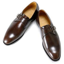 バーウィック Berwick1707 / アニリンカーフシングルモンクストラップシューズ『4319』(598/ ブラウン ) 靴 メンズ ブランド | モンクストラップ ビジネスシューズ 本革 ビジネス 革靴 レザーシューズ フォーマル