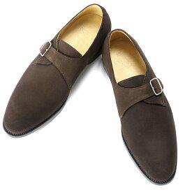 バーウィック Berwick1707 / スエードシングルモンクストラップシューズ『4319』(173/ ダークブラウン ) 靴 メンズ ブランド | モンクストラップ ビジネスシューズ ビジネス レザーソール フォーマルシューズ メンズシューズ