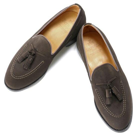 バーウィック Berwick1707 / スエードタッセルローファー『4171』(173/ ダークブラウン ) 靴 シューズ タッセル ローファー 茶 スエード / 本革 革靴 ビジネス カジュアル レザーシューズ スリッポン レザー ビジネスシューズ カジュアルシューズ メンズ ブランド