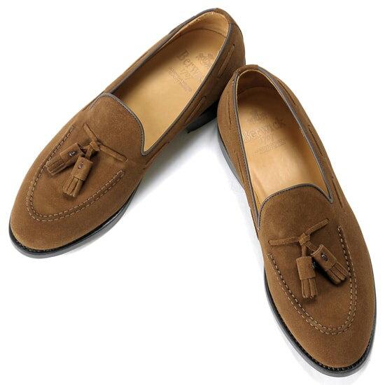 バーウィック Berwick1707 / スエードタッセルローファー『4171』(SNUFF / ブラウン)バーウィック 靴 シューズ タッセル ローファー 茶 メンズ ブランド