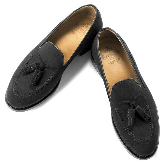 バーウィック Berwick1707 / スエードタッセルローファー『4171』(NEGRO/ ブラック ) 靴 シューズ タッセル ローファー 黒 スエード / 本革 革靴 ビジネス カジュアル レザーシューズ スリッポン レザー ビジネスシューズ カジュアルシューズ メンズ ブランド