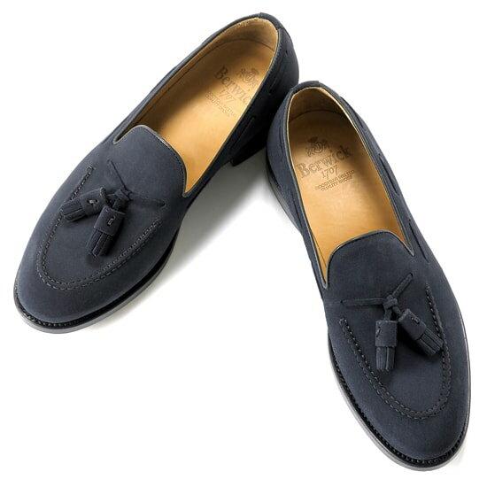 バーウィック Berwick1707 / スエードタッセルローファー『4171』(NAVY / ネイビー)バーウィック 靴 シューズ タッセル ローファー 紺 メンズ ブランド