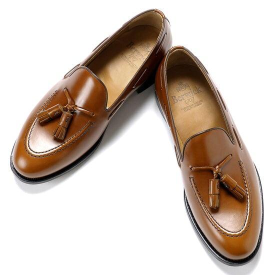 バーウィック Berwick1707 / バインダーカーフタッセルローファー『4171』(NOBEL / ウイスキーブラウン)バーウィック 靴 シューズ タッセル ローファー 茶 メンズ ブランド
