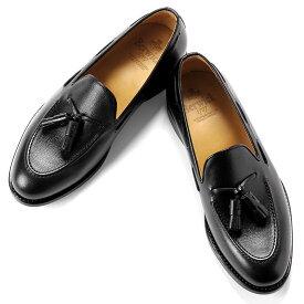 【ポイント10倍】バーウィック Berwick1707 / アルパインカーフタッセルローファー『4171』(BLACK/ ブラック ) | 靴 シューズ タッセル ローファー 黒 berwick ビジネス カジュアル レザーシューズ スリッポン レザー カジュアルシューズ