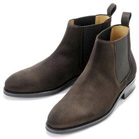 バーウィック Berwick1707 / スエードサイドゴアブーツ「351」(173/ ダークブラウン ) 靴 サイドゴア ブーツ メンズ ブランド | サイドコアブーツ メンズブーツ スエード ダイナイトソール ビジネス スエードブーツ ショートブーツ
