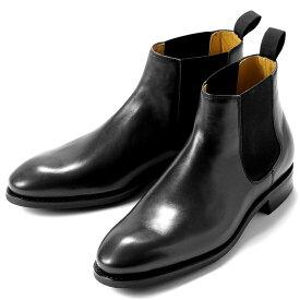 バーウィック Berwick1707 / ボックスカーフサイドゴアブーツ「351」(NEGRO/ ブラック ) 靴 サイドゴア ブーツ 黒 メンズ ブランド | サイドコアブーツ メンズブーツ 本革 ダイナイトソール ビジネス ショートブーツ ブラック レザーブーツ