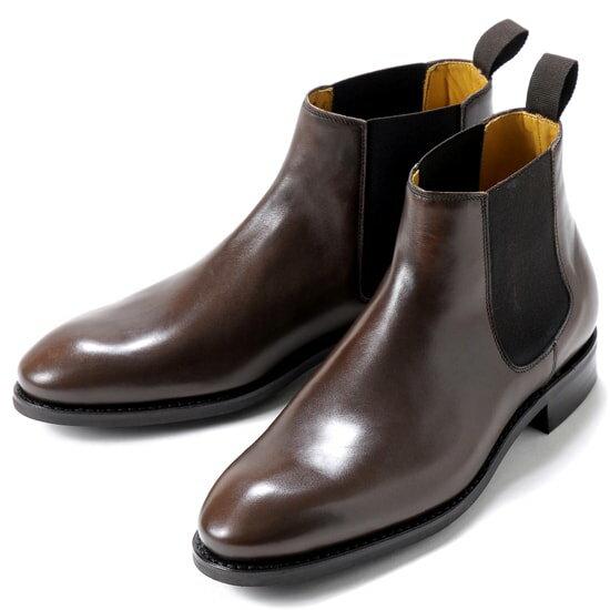 バーウィック Berwick1707 / アニリンカーフサイドゴアブーツ『351』(598/ ブラウン ) 靴 サイドゴア ブーツ メンズ ブランド | サイドコアブーツ メンズブーツ 本革 ビジネス ショートブーツ ビジネスシューズ レザーブーツ 紳士靴 ブラウン ブランド靴
