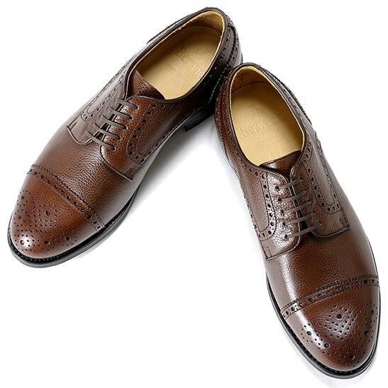 バーウィック Berwick1707 / スコッチグレインレザー外羽根セミブローグシューズ『4318』 靴 メンズ ブランド   ビジネスシューズ 本革 ビジネス 革靴 レザーシューズ フォーマル フォーマルシューズ メンズシューズ メンズビジネスシューズ 紳士靴 シューズ ブラウン