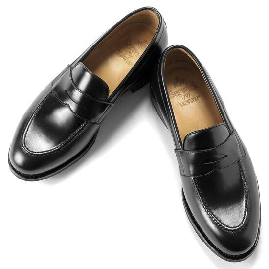 バーウィック Berwick1707 / バインダーカーフコインローファー『4172』 靴 ローファー 黒 メンズ ブランド   ローファ ドレスシューズ フォーマルシューズ フォーマル コインローファー 革靴 本革 レザーシューズ 紳士靴 シューズ カジュアル カジュアルシューズ