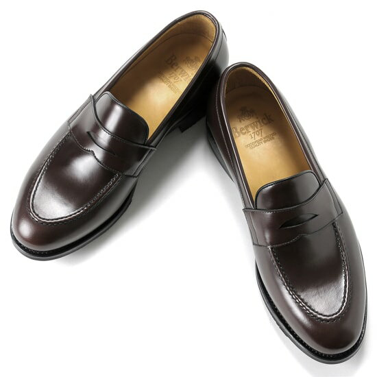 バーウィック Berwick1707 / バインダーカーフコインローファー『4172』(MARRON/ ダークブラウン ) 靴 ローファー メンズ ブランド | ドレスシューズ フォーマルシューズ フォーマル コインローファー 革靴 本革 レザーシューズ シューズ カジュアル ブラウン