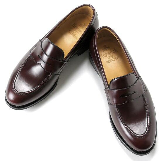 バーウィック Berwick1707 / バインダーカーフコインローファー『4172』 (BURDEOS/ バーガンディ ) 靴 ローファー メンズ ブランド | ドレスシューズ フォーマルシューズ フォーマル コインローファー 革靴 本革 レザーシューズ シューズ カジュアル 紳士靴