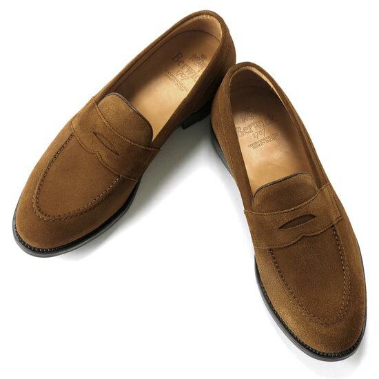 バーウィック Berwick1707 / スエードコインローファー『4172』 ローファー メンズ ブランド   ローファ スエード ドレスシューズ フォーマルシューズ フォーマル コインローファー カジュアル カジュアルシューズ 紳士靴 ブランド靴 メンズシューズ ブラウン