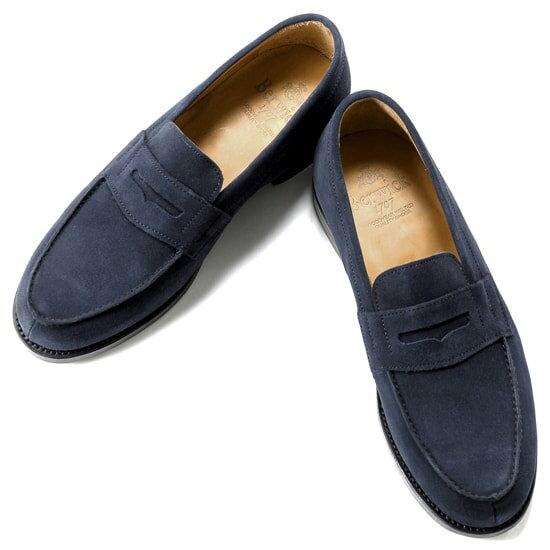 バーウィック Berwick1707 / スエードフレンチコインローファー「4456」(NAVY / ネイビー)バーウィック 靴 シューズ ローファー メンズ ブランド