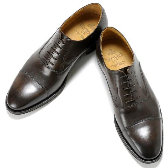 バーウィック Berwick1707 /17-18AW新入荷!アニリンカーフストレートチップシューズ『3010』(TESTA/ダークブラウン)バーウィック 靴 シューズ ストレートチップ 茶 メンズ ブランド