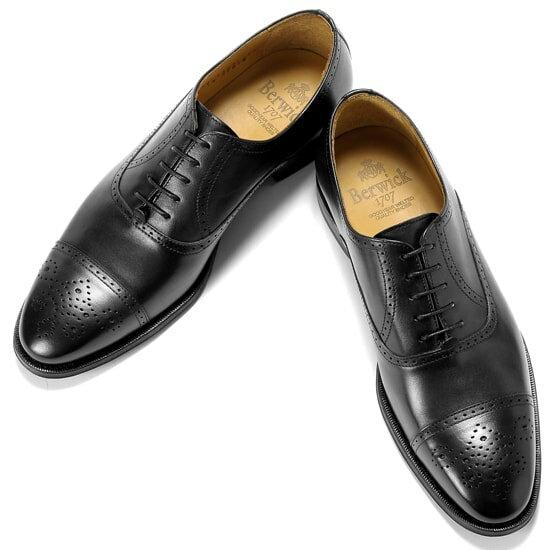 バーウィック Berwick1707 /17-18AW新入荷!アニリンカーフセミブローグシューズ『4507』(NEGRO/ブラック)バーウィック 靴 シューズ セミブローグ 黒 メンズ ブランド
