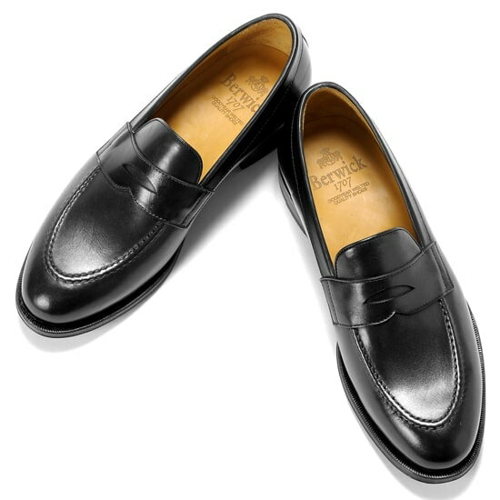 バーウィック Berwick1707 /17-18AW新入荷!アニリンカーフコインローファー『4172』(NEGRO/ブラック)バーウィック 靴 シューズ コイン ローファー 黒 メンズ ブランド