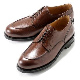 バーウィック Berwick1707 / スコッチグレインレザーフレンチ外羽根Uチップシューズ「4410」(NIGER/ダークブラウン) ダイナイトソール リッジウェイ 靴 Uチップ メンズ ブランド 本革 カジュアル 革靴 レザーシューズ ビジネス 紳士靴 シューズ