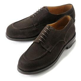 バーウィック Berwick1707 / スエードフレンチ外羽根Uチップシューズ「4410」(TESTA/ダークブラウン) ダイナイトソール リッジウェイ スエード 靴 Uチップ メンズ ブランド オンオフ兼用 カジュアル 革靴 レザーシューズ ビジネス 紳士靴