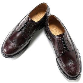 バーウィック Berwick1707 / バインダーカーフアメリカンブローグシューズ『4550』(BURDEOS/バーガンディ) ダイナイトソール 靴 ウィングチップ メンズ ブランド オンオフ兼用 革靴 レザーシューズ ビジネス メンズシューズ 紳士靴 シューズ