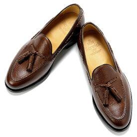 バーウィック Berwick1707 / スコッチグレインレザーイントレチャートタッセルローファー「4340」(NIGER/ブラウン)/ 靴 シューズ タッセル ローファー ビジネス カジュアル レザー レザーシューズ スリッポン 編み込み イントレ ダイナイト
