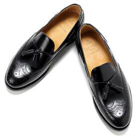 バーウィック Berwick1707 / バインダーカーフウィングチップタッセルローファー「4675」(NEGRO/ブラック)/ 靴 シューズ タッセル ローファー ビジネス カジュアル レザー レザーシューズ スリッポン ウイングチップ ダイナイト