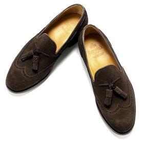 【ポイント10倍】バーウィック Berwick1707 / スエードウィングチップタッセルローファー『4675』(173/ダークブラウン)/ 靴 シューズ タッセル ローファー ビジネス カジュアル レザー レザーシューズ スリッポン カジュアルシューズ ウイングチップ ダイナイト