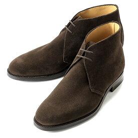 クロケット&ジョーンズ CROCKETT&JONES / 【国内正規品】 レペロスエードチャッカブーツ「CHERTSEY」(DARK BROWN/ダークブラウン)/ チャートシー 英国 靴 革 レザー ビジネス シューズ グッドイヤー チャートシー ダイナイトソール