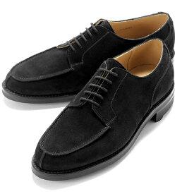 クロケット&ジョーンズ CROCKETT&JONES / 【国内正規品】 / 当店別注レペロスエードUチップダービー「MORETON」(BLACK/ブラック)/ モールトン 英国 外羽根 靴 革 レザー ビジネス シューズ グッドイヤー