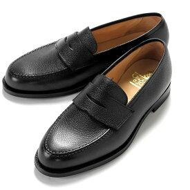 クロケット&ジョーンズ CROCKETT&JONES / 【国内正規品】 / 当店別注ペブルグレインレザーコインローファー「BOSTON 2」(BLACK/ブラック)/ ボストン 英国 靴 革 レザー ビジネス シューズ グッドイヤー ダイナイトソール