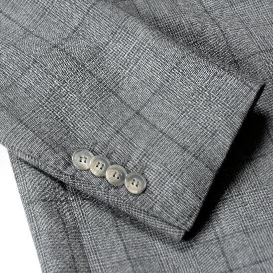 ジャケットボタン付け(開き見せ仕上げ)【丈詰め出し / 無し】 | ブランド メンズ ジャケット ボタンつけ お直し ボタン 補修 仕上げ スーツ メンズスーツ スーツジャケット