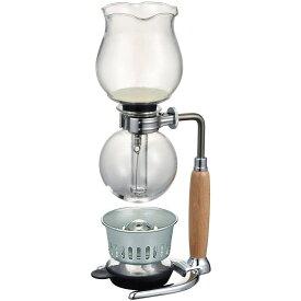 【HARIO】復刻版 コーヒーサイフォン はな HCAF-2 ウッド 実用容量240ml 2杯用 ハリオ