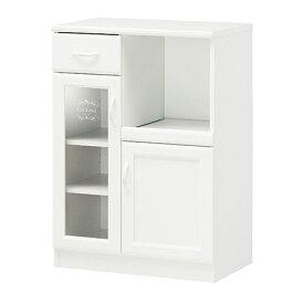 セシルナ スライド付カップボード ワゴン レンジ台 キッチン収納 食器棚 収納 棚 送料無料