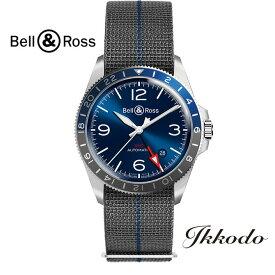 Bell & Ross ベル&ロス BR V2-93 GMT BLUE 41ミリ 自動巻き ステンレスケース&ブレス 日本国内正規品 2年保証 メンズ腕時計 男性 紳士 BRV293-BLU-ST/SF【BRV293BLUSTSF】