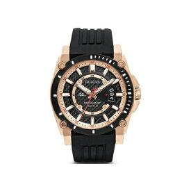 ブローバ BULOVA プレシジョニスト クォーツ ブラック文字盤 46.5mm 日本国内正規品 メンズ腕時計 3年保証 98B152