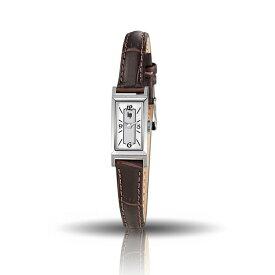 リップ LIP Churchill T13 フランス製 クォーツ シルバーダイアル ステンレスケース ブラウンレザーストラップ 29mm×13mm 3気圧防水 日本国内正規品 2年保証 レディース腕時計 LP671225
