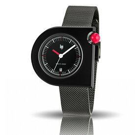 リップ LIP マッハ MACH2000 フランス製 メンズ腕時計 クォーツ ブラックダイアル ステンレスケース&ブレス 42mm×40mm 5気圧防水 日本国内正規品 2年保証 LP671095