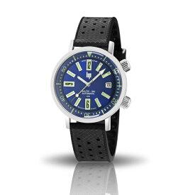 リップ LIP ノーティックスキー オートマ フランス製 自動巻き メンズ腕時計 ブルーダイアル ブラックウレタンストラップ&ブラックレザーストラップ付属 ステンレスケース 38mm 日本国内正規品 2年保証 LP671506