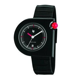 リップ LIP MACH2000 マッハ フランス製 クォーツ ブラックダイアル ステンレスケース ブッラックラバー 42mm×40mm 5気圧防水 日本国内正規品 2年保証 メンズ腕時計 LP671093