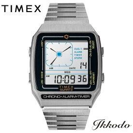 タイメックス TIMEX Q Reissue Digital LCA クォーツ ステンレスケース 32.5mm 3気圧防水 日本国内正規品 メンズ腕時計 1年保証 TW2U72400