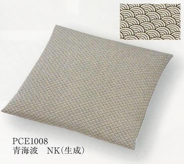 ちりめん 座布団 [青海波] カテキンウレタン入り 50x50cm