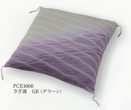 【ポイント5倍】ちりめん 座布団 [さざ波] 中綿入り 65x69cm 全2色