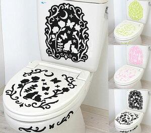 デコる 消臭ウォールステッカー/簡単!貼るだけでトイレの消臭に!/ピンク/グリーン/ブラック/キュート/おしゃれ/