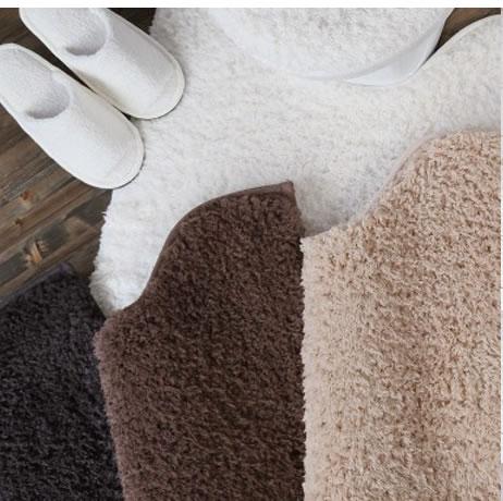 シンプル無地のトイレタリー5点セット『DOUXドゥー』/洗濯OK/洗えるトイレマット、ふたカバー、スリッパ、ペーパーホルダーカバー、便座カバー/お買い得セット/トイレセット