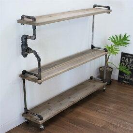 【現品限り】vintage iron shelf 1040*1210*237(アイアン 棚 ラック シェルフ 鉄 木 収納棚 アンティーク ウォールシェルフ オープンラック 両面棚 商品棚 デイスプレイ)