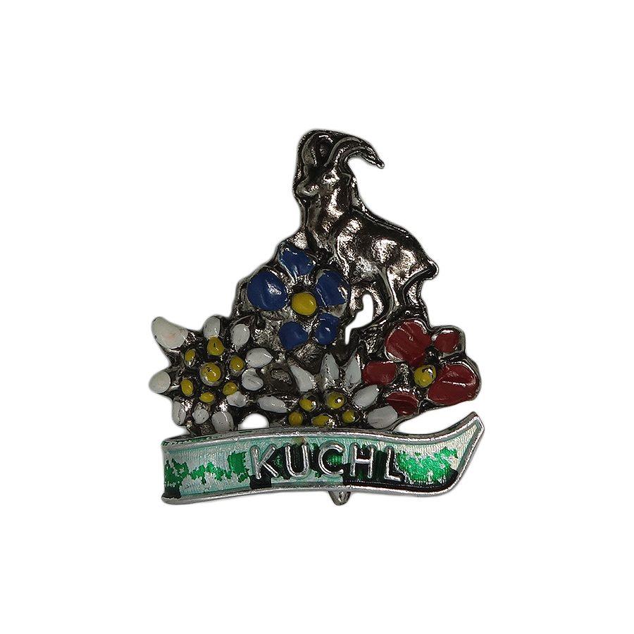 【中古】チロル ブローチ 花 動物 KUCHL オーストリア ピン バッジ バッチ ビンテージ