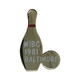 【中古】 WIBC ボウリング国際大会 ヴィンテージ ピンバッチ ブローチ ピンバッジ 1981 BALTIMORE 【異国屋】