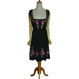 277c9fd8ed7f2 SALZBURGER TRACHTEN ディアンドル チロル ワンピース 花 刺繍 ノースリーブ レディースL位 オーストリア 古着 民族衣装