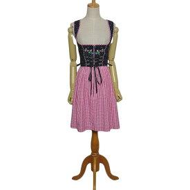 【中古】STOCKER POINT チロル ワンピース ディアンドル ドレス レディース Sサイズ位 ヨーロッパ 民族衣装 古着 【異国屋】